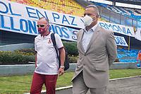 BOGOTÁ – COLOMBIA, 20-06-2021: Hernán Torres técnico de Tolima por la final vuelta entre Millonarios F.C. y Deportes Tolima como parte de la Liga BetPlay DIMAYOR I 2021 jugado en el estadio Nemesio Camacho El Campin de la ciudad de Bogotá. / Hernan Torres coach of Tolima second leg final match between Millonarios F.C. and Deportes Tolima as part of BetPlay DIMAYOR League I 2021 played at Nemesio Camacho El Campin Stadium in Bogota city. Photos: VizzorImage / Daniel Garzon / Cont.