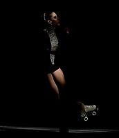 BOGOTÁ - COLOMBIA, 09-09-2018: Caroline Calvancanti, deportista de Brasil, durante prueba de Danza Libre, Programa Largo, Juvenil Damas, en el Campeonato Panamericano Patinaje Artístico, en el Coliseo El Salitre de la Ciudad de Bogotá. / Caroline Calvancanti, sportwoman from Brazil, during the Long Program Junior Ladies Freeskating test, in the Panamerican Figure Skating Championship the El salitre Coliseum in Bogota City. Photo: VizzorImage / Luis Ramirez / Staff.
