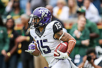 TCU Horned Frogs wide receiver Cameron Echols-Luper (15) in action during the game between the TCU Horned Frogs and the Baylor Bears at the McLane Stadium in Waco, Texas. TCU leads Baylor 31 to 27 at halftime.