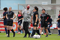 assistant coach Kris Van Der Haegen  pictured during a friendly female soccer game between the national teams of Luxemburg and Belgium , called the Red Flames  in a preparation towards the qualification for the  FIFA Women's World Cup , on saturday 12 th of June 2021  in Wiltz , Luxemburg . PHOTO SPORTPIX BE   SPP   SEVIL OKTEM