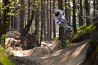 Rob Warner riding a Giant Anthem 29er bike , Swinley Forest , Berkshire ,   May  2012 pic copyright Steve Behr / Stockfile