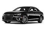 Stock pictures of low aggressive front three quarter view of 2019 Audi S4 Premium-Plus 4 Door Sedan Low Aggressive