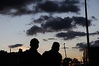 BOGOTÁ - COLOMBIA, 24-09-2020: Atardecer en el estadio de Techo y llegada jugadores Fortaleza.Fortaleza CEIF y Deportes Quindio en partido de  ida de la segunda ronda de clasificación de la Copa Betplay DIMAYOR  jugado en el estadio Meropolitano de Techo de la ciudad de Bogotá. /Sunset at the Techo stadium and arrival of the Fortaleza players. Fortaleza CEIF and Deportes Quindio in the first leg of the second qualifying round of the DIMAYOR Betplay Cup played at the Metropolitano de Techo  stadium in the city of Bogota. Photo: VizzorImage / Felipe Caicedo/ Staff