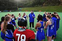 Wellington v Auckland White. 2021 National Women's Under-18 Hockey Tournament match between Wellington and Auckland White at National Hockey Stadium in Wellington, New Zealand on Sunday, 11 July 2021. Photo: Dave Lintott / lintottphoto.co.nz https://bwmedia.photoshelter.com/gallery-collection/Under-18-Hockey-Nationals-2021/C0000T49v1kln8qk