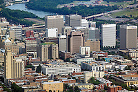 aerial photograph of the Richmond, Virginia skyline