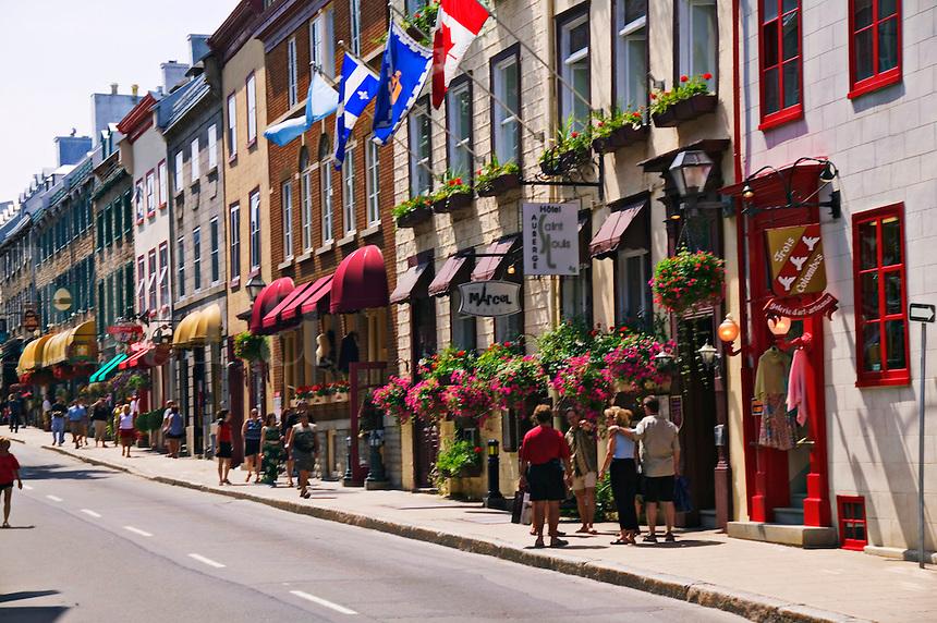 Street scene in old Quebec City, Canada
