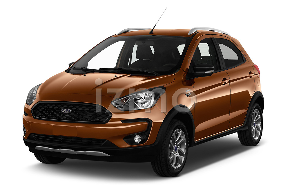 2019 Ford KA + Active 5 Door Hatchback angular front stock photos of front three quarter view