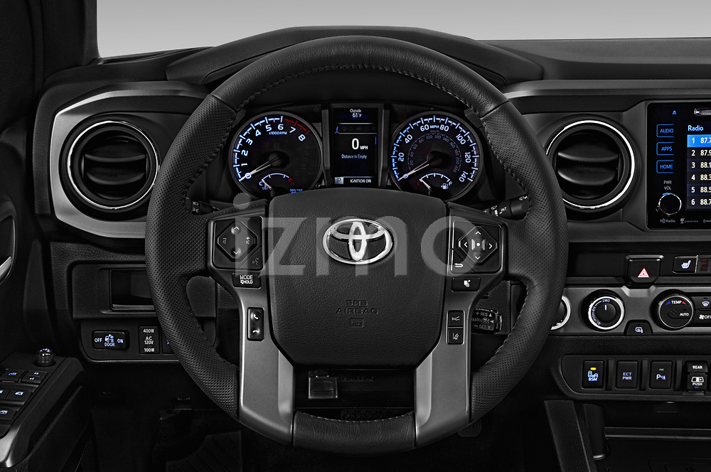 Car pictures of steering wheel view of a 2019 Toyota Tacoma TRD Pro 4 Door Pick Up