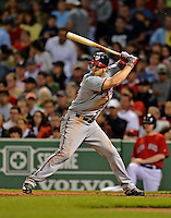 8 June 2012: Washington Nationals outfielder Bryce Harper at bat against the Boston Red Sox at Fenway Park in Boston, MA. The Nationals defeated the Red Sox 7-4 in the opening game of their 3-game series. Mandatory Credit: Ed Wolfstein Photo