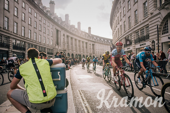 Tony Martin (DEU/Katusha-Alpecin) in Regent Street<br /> <br /> Stage 8: London to London (77km)<br /> 15th Ovo Energy Tour of Britain 2018