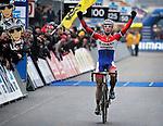 Lars van der Haar of Team Giant Shimano  pictured during UCI Cyclo-cross World Cup in Heusden-Zolder, Belgium. 26th December 2014.<br /> Photo: Cor Vos/www.newsfile.ie