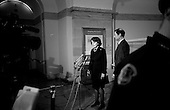 Washington DC, .District of Columbia.USA.February 6, 2007..Democrat Dianne Feinstein senior U.S. Senator holds a press conference in the Capital building the day after Republicans voted to reject the debate on an Iraq resolution against President Bush's build up for the war.