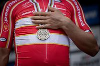 Michael Valgren (DEN/EF Education Nippo) finishing 3th place Bronze medal<br /> <br /> Men Elite – Road Race (WC)<br /> Race from Antwerp to Leuven (268.3km)<br /> <br /> ©kramon