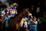 JULY 17, 2021: Express Train with Juan Hernanadez before the San Diego Handicap at Del Mar Fairgrounds in Del Mar, California on July 17, 2021. Evers/Eclipse Sportswire/CSM