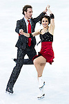 Nathalie Pechalat and Fabian Bourzart of France compete in the Figure Skating Team Ice Dance Short Program during the 2014 Sochi Olympic Winter Games at Iceberg Skating Palace on February 8, 2014 in Sochi, Russia. Photo by Victor Fraile / Power Sport Images
