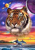 Interlitho, Lorenzo, FANTASY, paintings, tiger, dolphins, KL, KL4290,#fantasy# illustrations, pinturas