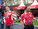 Janson Robinson and Brain O'Driscoll in the Sevens Villages during    Janson Robinson and Brain O'Driscoll in the Sevens Villages during    HSBC Hong Kong Rugby Sevens 2016 on 08 April 2016 at Hong Kong Stadium in Hong Kong, China. Photo by Moses Ng / Power Sport Images
