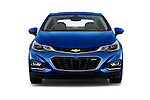 Car photography straight front view of a 2018 Chevrolet Cruze Premier 4 Door Sedan Front View