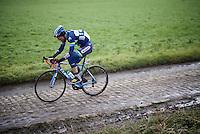 Kevin Van Melsen (BEL/Wanty-Groupe Gobert) over the cobbles<br /> <br /> GP Samyn 2016