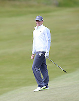 27 May 2015; Rory McIlroy watches his second shot land close on the 5th<br /> <br /> Dubai Duty Free Irish Open Golf Championship 2015, Pro-Am. Royal County Down Golf Club, Co. Down. Picture credit: John Dickson / DICKSONDIGITAL