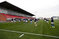 8th November 2020; SkyEx Community Stadium, London, England; Football Association Cup, Hayes and Yeading United versus Carlisle United; Carlisle United players warming up