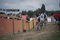 race leaders approaching<br /> <br /> Brico-cross Geraardsbergen 2016<br /> U23 + Elite Mens race