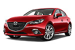 Low aggressive front three quarter view of a 2014 Mazda Mazda 3 I Grand Touring HatchBack