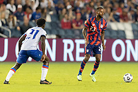 KANSAS CITY, KS - JULY 11: Kellyn Acosta #23 of the United States during a game between Haiti and USMNT at Children's Mercy Park on July 11, 2021 in Kansas City, Kansas.