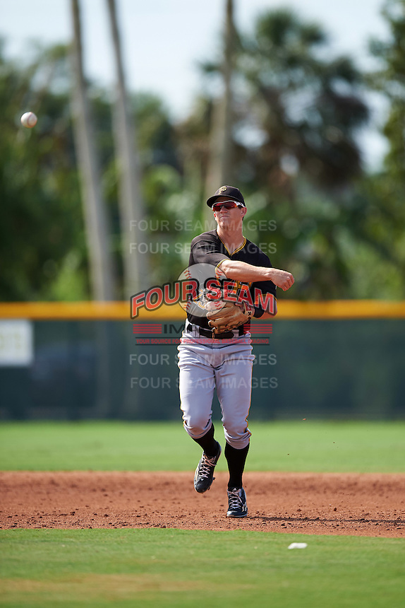 Pittsburgh Pirates Kevin Newman (23) during a minor league Spring Training intrasquad game on April 3, 2016 at Pirate City in Bradenton, Florida.  (Mike Janes/Four Seam Images)