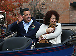 Nevada Gov. Brian Sandoval and his wife Kathleen ride in the annual Nevada Day parade in Carson City, Nev. on Saturday, Oct. 29, 2016. <br />Photo by Cathleen Allison