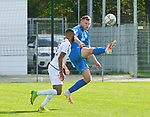 Roman Hauk (Nr.5, FC Astoria Walldorf) klaert den Ball  beim Spiel in der Regionalliga, FC Astoria Walldorf - Eintracht Stadtallendorf.<br /> <br /> Foto © PIX-Sportfotos *** Foto ist honorarpflichtig! *** Auf Anfrage in hoeherer Qualitaet/Aufloesung. Belegexemplar erbeten. Veroeffentlichung ausschliesslich fuer journalistisch-publizistische Zwecke. For editorial use only. DFL regulations prohibit any use of photographs as image sequences and/or quasi-video.