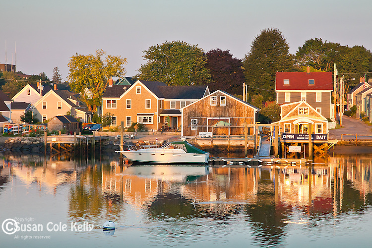 The historic South End waterfront, Portsmouth, NH, USA