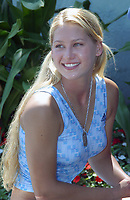 Key Biscayne, FL 2-26-2003<br /> Anna Kournikova attends a media event at the Tennis Center's main stadium in Crandon Park<br /> Photo by Adam Scull/PHOTOlink