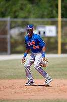 New York Mets Milton Ramos (24) during practice before a minor league Spring Training game against the Miami Marlins on March 26, 2017 at the Roger Dean Stadium Complex in Jupiter, Florida.  (Mike Janes/Four Seam Images)