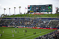 CARSON, CA - APRIL 25: Dignity Health Sports Park during a game between New York Red Bulls and Los Angeles Galaxy at Dignity Health Sports Park on April 25, 2021 in Carson, California.