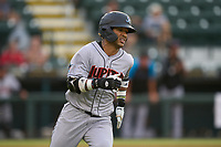 Jupiter Hammerheads Victor Mesa Jr. (10) runs to first base  during a game against the Bradenton Marauders on June 23, 2021 at LECOM Park in Bradenton, Florida.  (Mike Janes/Four Seam Images)
