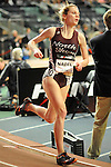Samantha Nadel wins the girls mile at the first U.S. Open on January 29, 2012 at Madison Square Garden in New York, New York.  (Bob Mayberger/Eclipse Sportswire)