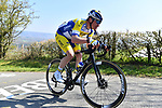 Aaron Van Poucke (BEL) Sport Vlaanderen-Baloise climbs La Redoute during the 107th edition of Liege-Bastogne-Liege 2021, running 259.1km from Liege to Liege, Belgium. 25th April 221.  <br /> Picture: Serge Waldbillig | Cyclefile<br /> <br /> All photos usage must carry mandatory copyright credit (© Cyclefile | Serge Waldbillig)