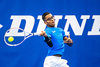 Amstelveen, Netherlands, 14  December, 2020, National Tennis Center, NTC, NK Indoor, National  Indoor Tennis Championships, Qualifying:   Elgin Khoeblal (NED	<br /> Photo: Henk Koster/tennisimages.com