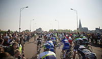 peloton leaving Maastricht<br /> <br /> Amstel Gold Race 2014