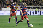 FC Barcelona's Sergio Busquets (l) and Andres Iniesta during La Liga match. March 3,2016. (ALTERPHOTOS/Acero)
