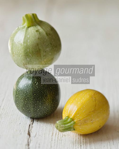 Cuisine/Gastronomie générale:  Courgettes rondes bio