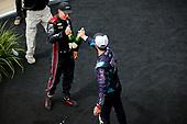 #12: Will Power, Team Penske Chevrolet celebrates winning the Big Machine Spiked Coolers Grand Prix, champagne, #51: Romain Grosjean, Dale Coyne Racing with RWR Honda