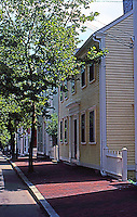 Providence: Benefit St.  A mile of history is packed onto this cobblestone street lined with historic buildings. Photo '91.