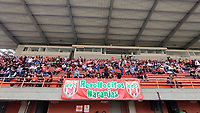ENVIGADO - COLOMBIA, 26-10-2021:Envigado y Millonarios en partido por la fecha 16 como parte de la Liga BetPlay DIMAYOR II 2021 jugado en el estadio  Polideportivo Sur de Envigado. /Envigado and Millonarios in match for the date 16 as part of the BetPlay DIMAYOR League II 2021 played at  Polideportivo Sur stadium in Envigado.. Photo: VizzorImage / Luis Benavides / Contribuidor