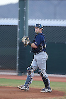 Mitch Ghelfi (12) of the AZL Brewers in the field during a game against the AZL Reds at Cincinnati Reds Spring Training Complex on July 5, 2015 in Goodyear, Arizona. Reds defeated the Brewers, 9-4. (Larry Goren/Four Seam Images)