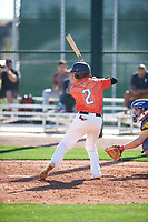 Norman Leon (2) of Evergreen Valley High School in San Jose, California during the Baseball Factory All-America Pre-Season Tournament, powered by Under Armour, on January 13, 2018 at Sloan Park Complex in Mesa, Arizona.  (Zachary Lucy/Four Seam Images)