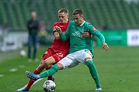 18th May 2020, WESERSTADION, Bremen, Germany; Bundesliga football, Werder Bremen versus Bayer Leverkusen;   Florian Wirtz Leverkusen challenges  Marco Friedl Werder Bremen