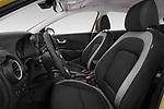 Front seat view of a 2018 Hyundai Kona Twist 5 Door SUV front seat car photos
