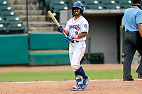 Tennessee Smokies left fielder Christian Donahue (3) heads toward the dugout during the game against the Montgomery Biscuits on May 9, 2021, at Smokies Stadium in Kodak, Tennessee. (Danny Parker/Four Seam Images)